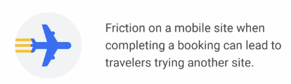Friction on mobile site