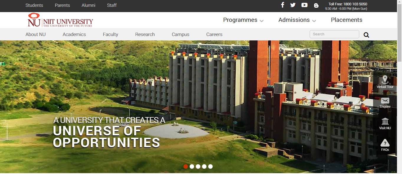 NIIT University Home Page