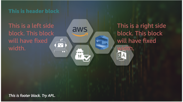 image showing header and footer block