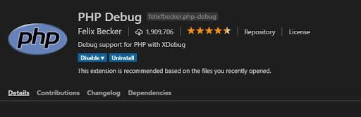 installing php debug