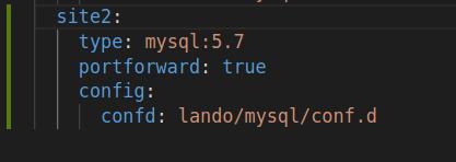 code written in black background