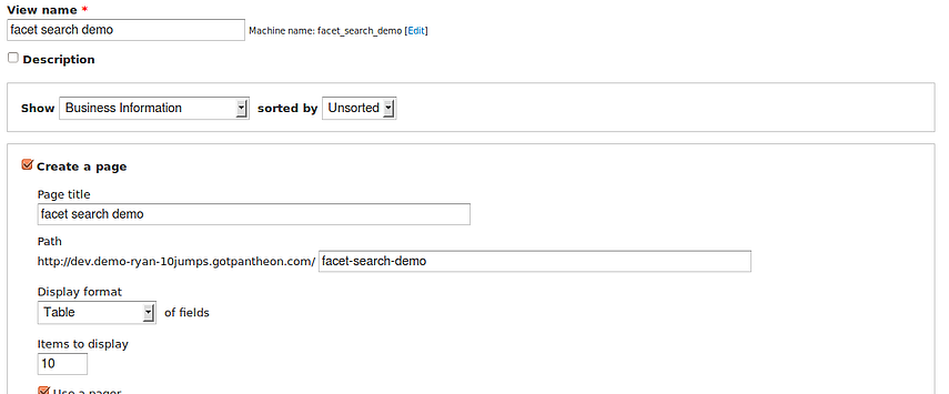 Create a view of your data which need to be Indexed and Displayed to your site use