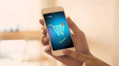 Mobile showcasing e-cart