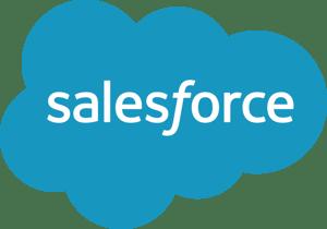 Salesforce written in blue cloud
