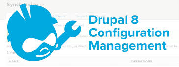 Text and Drupal 8 logo in white background