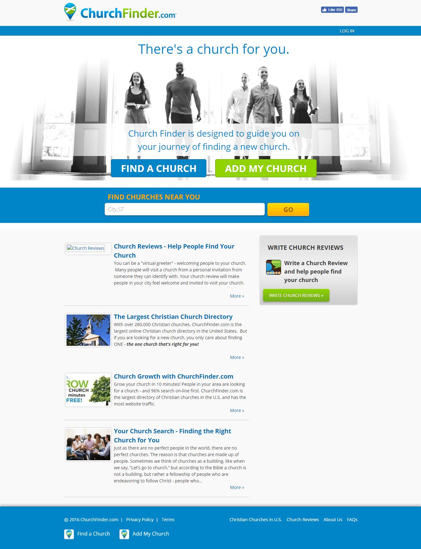churchfinder legacy homepage