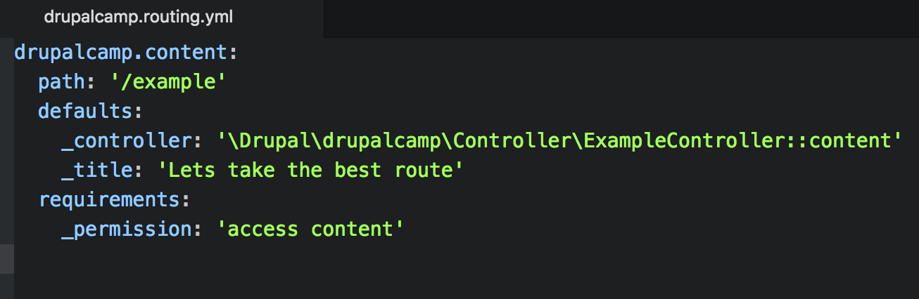 Drupal routing system