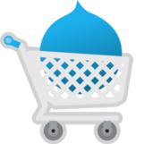 Drupal logo in shopping cart